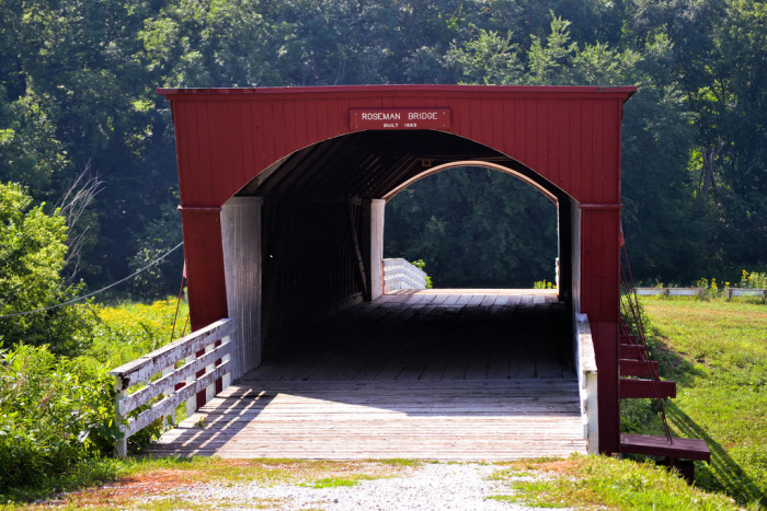 6. Take a tour of the picturesque Bridges of Madison County, and have your own romance like Clint Eastwood and Meryl Steep in the movie.