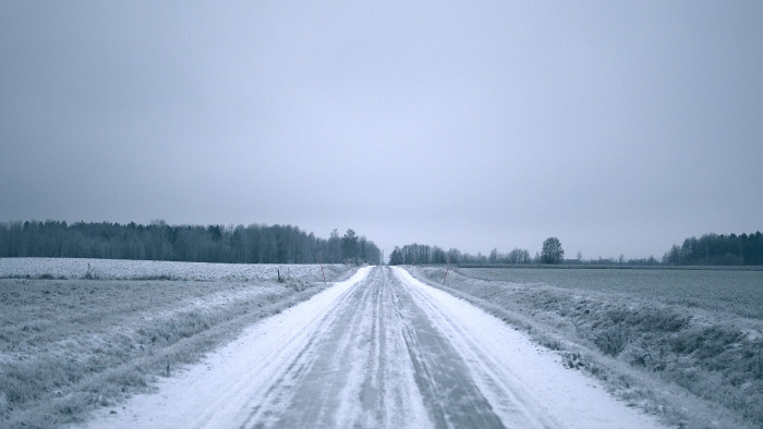 6. During winter, the roads turn into a giant ice skating rink.
