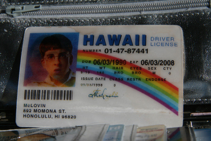 7) A Hawaii State drivers license.