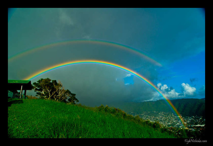 7) What about the almost daily rainbows seen in some areas?