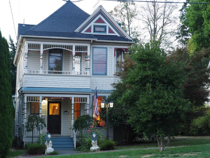 But if you were going to spend that kind of money, why not spend it on the elegant & historical 3-story Byrd House here in Olympia? The 3-bed, 1.5 bath Victorian home is listed online for $395K!