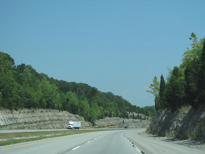 6. If you've ever driven on the interstate from one end of the state to the other, you recognize this picture. This particular shot is of Interstate 64.