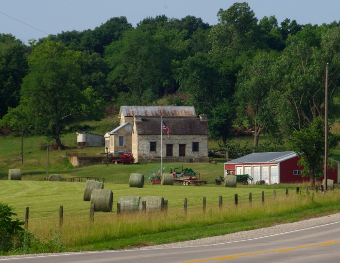 8. This old farm near Westphalia is obviously still in use and well maintained.  Beautiful land.