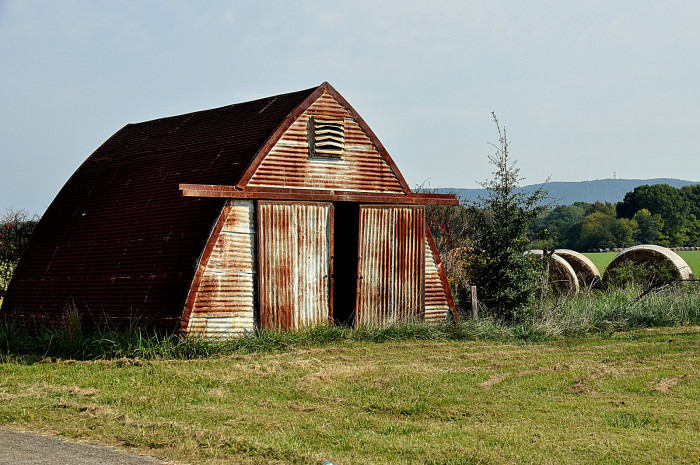 5. This unique barn is located on the Chief Ladiga Trail in Jacksonville, Alabama.