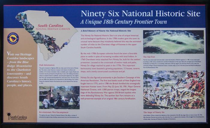 12. Ninety Six National Historic Site, Ninety Six