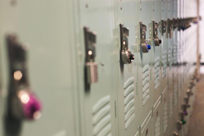 10. Actually using lockers in school.