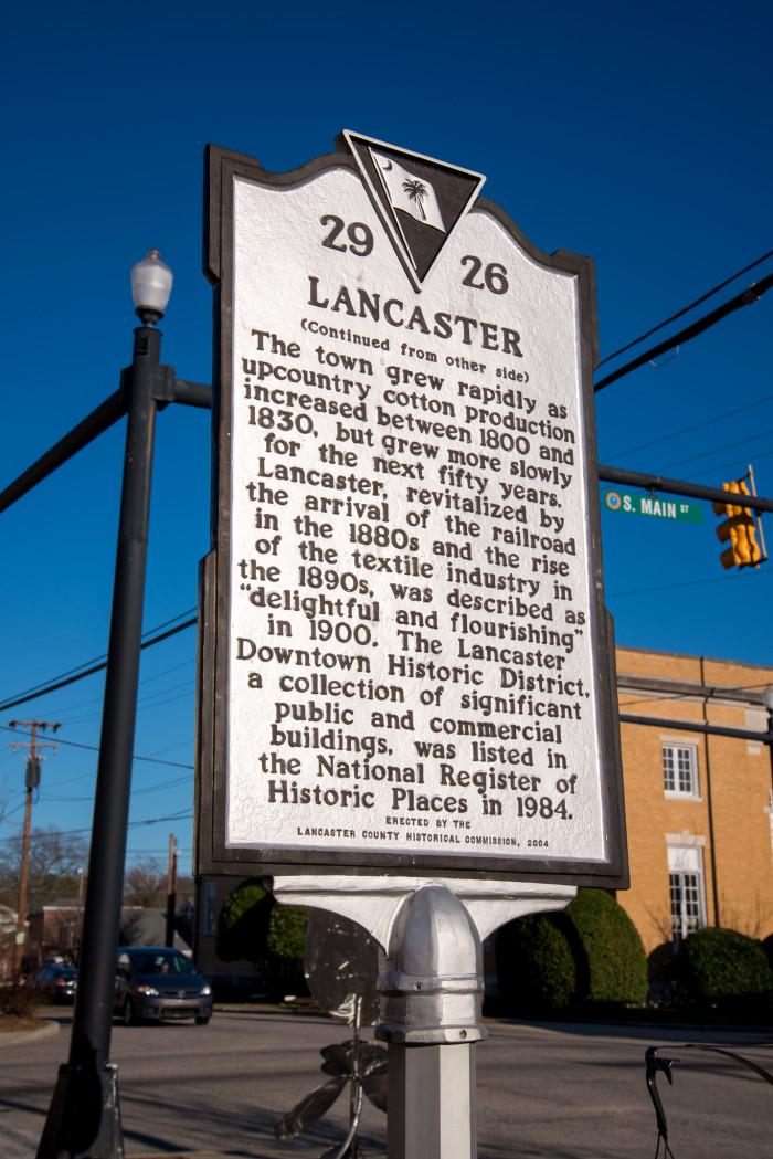 6. Lancaster, SC