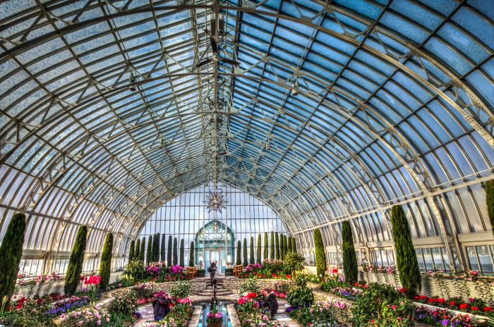 12. Visit a conservatory. The Walker Sculpture Garden in Minneapolis and the McNealy Conservatory in Como Park are great ways to take in nature without getting rained on!