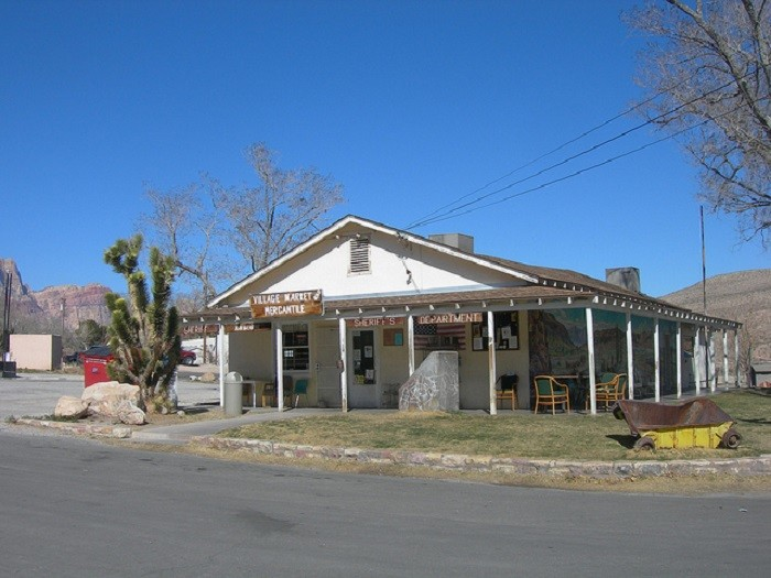2. The center of Blue Diamond, Nevada is the Village Market & Mercantile.