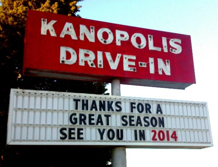 10. Watch Hollywood stars under the nighttime stars at the Kanopolis Drive-In (Kanopolis)
