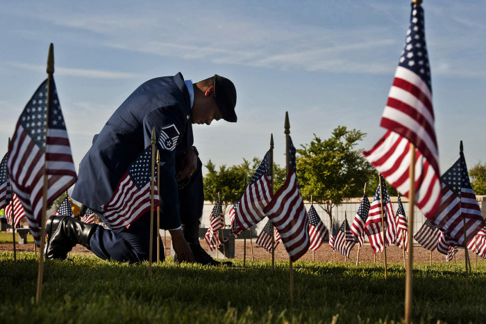 3. Nevadans show honor and respect for fallen soldiers.