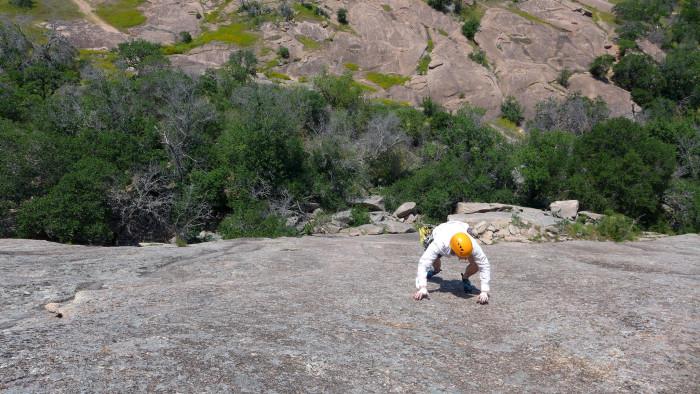 7) Anyone dare to climb Enchanted Rock free-handed like this guy?!