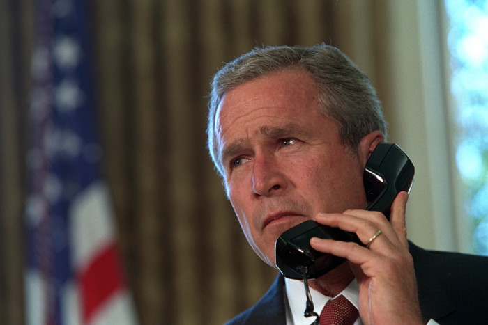 When the president held a strategy session at Offutt on 9/11