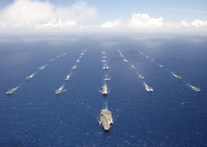 9) Though not of the Hawaiian Islands, this photo was taken during naval exercises in 2012 in and around the islands.