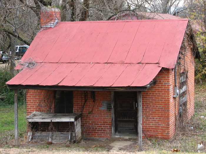 9. Located in Starkville, you can't help but wonder what secrets this tiny house holds.