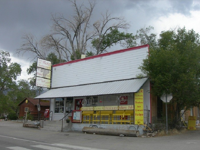 3. This former general store, located in Baker, Nevada, is now the Lectrolux Cafe.
