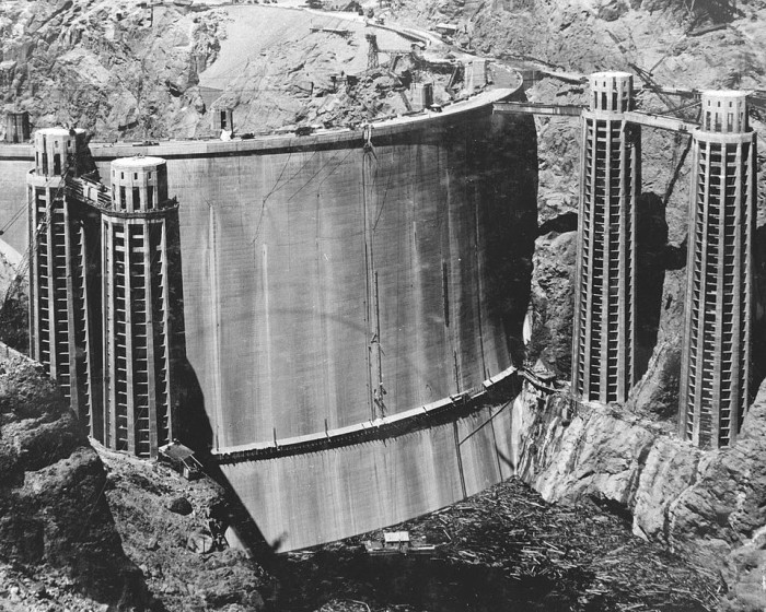 7. Here is a look at Hoover Dam after construction finished in 1935.