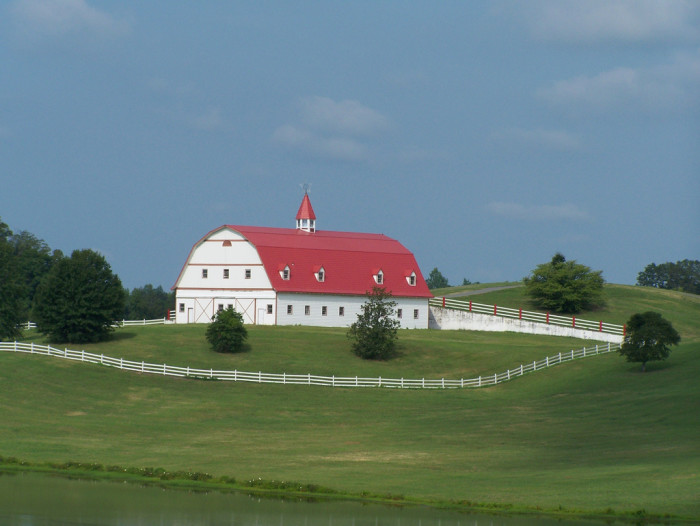 4. I've always loved this barn that sits off I-65, north of Birmingham. GORGEOUS!!!