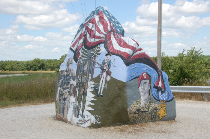 10. All of our counties have commissioned a beautiful, patriotic freedom rock.