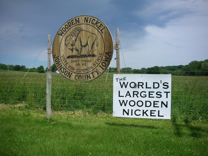 9. The world's largest wooden nickel
