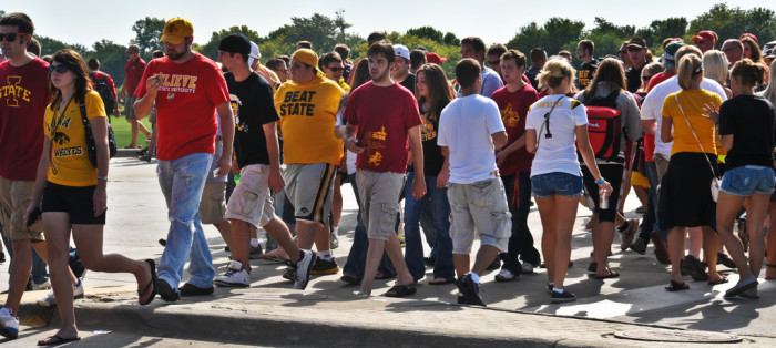 9. Tailgated at the Iowa vs. Iowa State game.