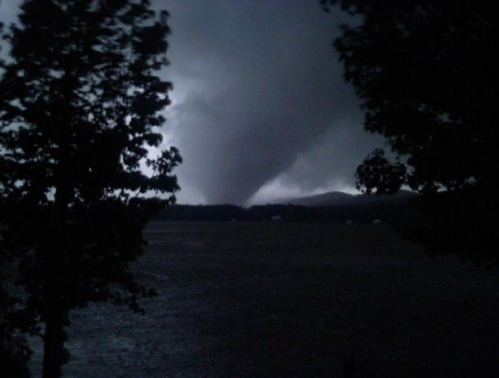 10. From April 25–28, 2011, the largest and one of the deadliest tornado outbreaks occurred. Alabama was one of the hardest hit states. This photo of an EF4 tornado was taken in Shoal Creek Valley.
