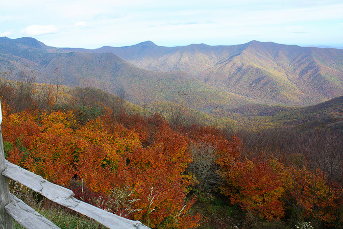 11) Then carry on down the Blue Ridge Parkway in autumn