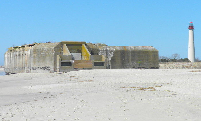 4. A fully intact WWII bunker on the beach