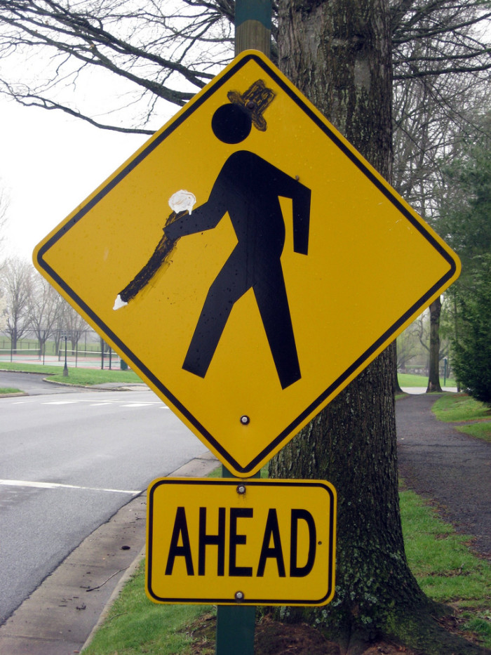 15. Charlie Chaplin Crossing. Please Use Caution.