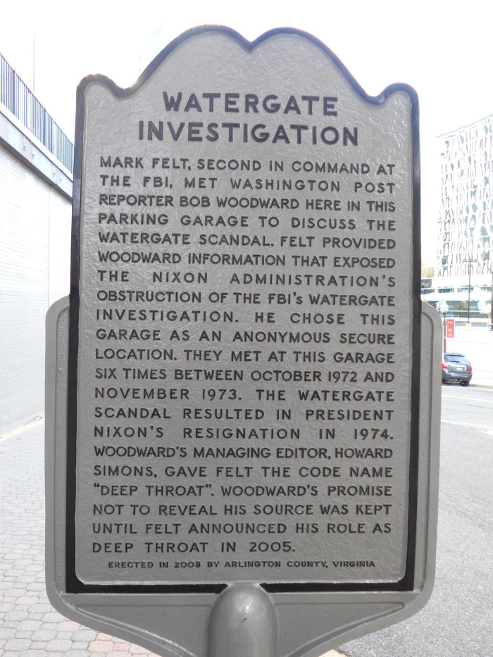 7. 1972: Deep Throat, the Watergate Scandal - and a parking garage.