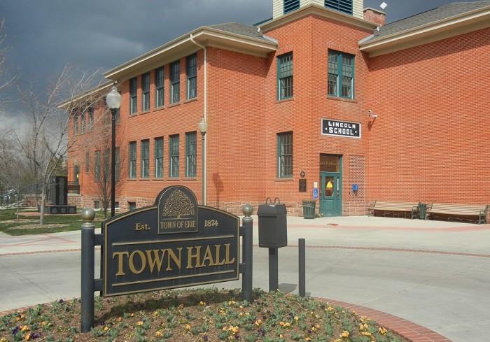 1.) Safest Town Near a City  -- Erie (Population: 19,627)