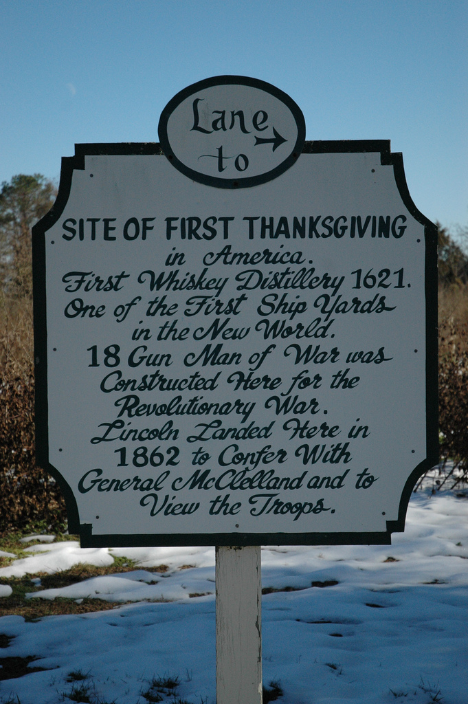 4. Sorry, Pilgrims. We also had the first Thanksgiving in 1619.