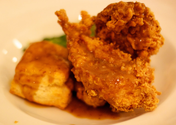 13) Plus the fried chicken rivals any in the south.