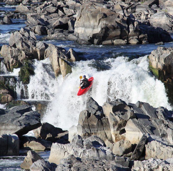 2. Riding the Falls in Great Falls Park