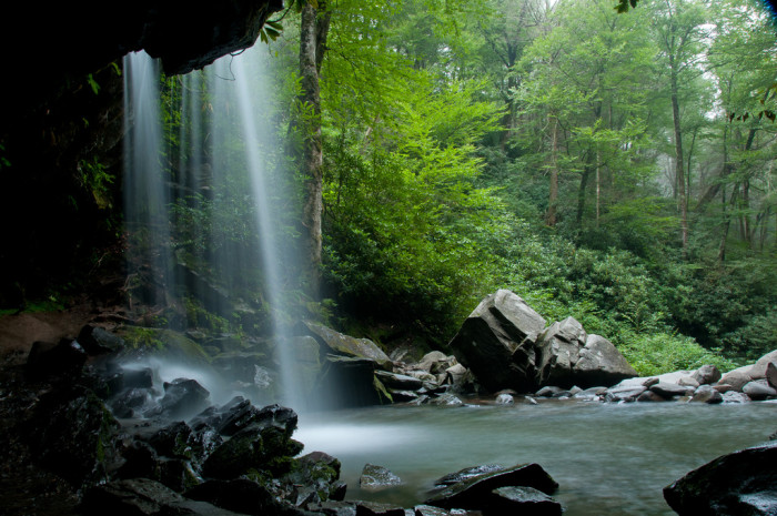7) Or you can head to Grotto Falls for a sweet chill