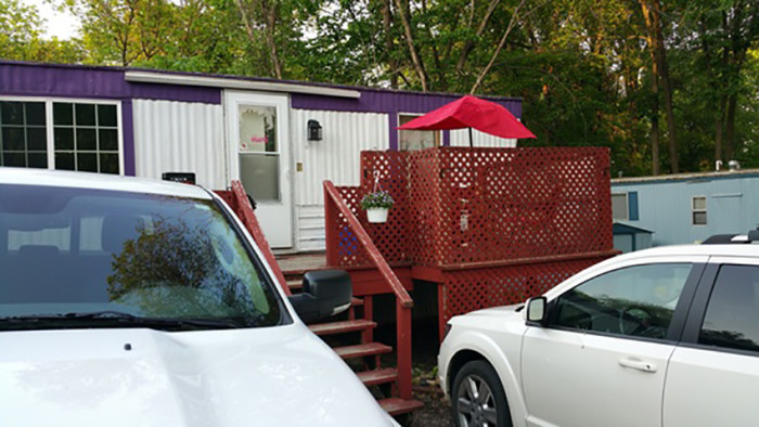 5. Another fun trailer option in Red Wing, this newly renovated mobile home has a great patio and is only $9,000!