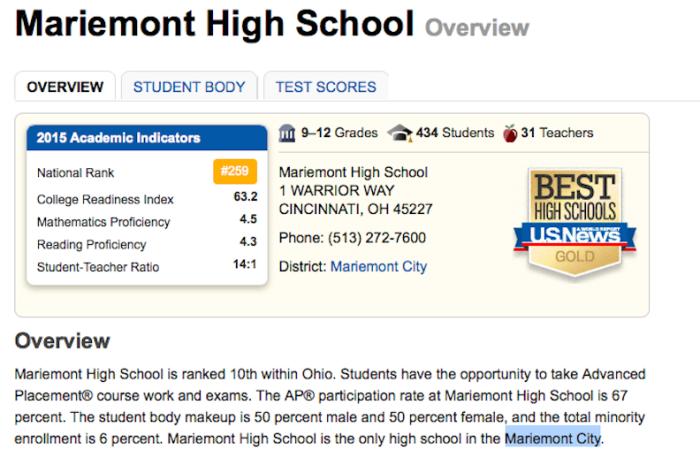 8. Mariemont City School District