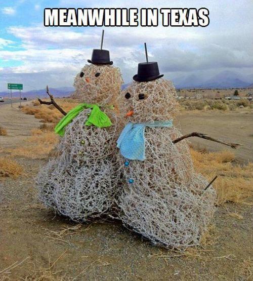 9) Our version of snowmen.