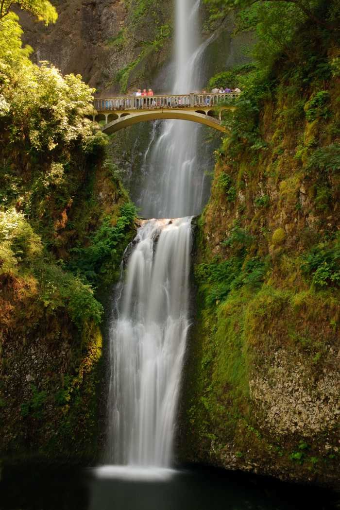 5) Take in that misty breeze that emanates from the powerful Multnomah Falls.