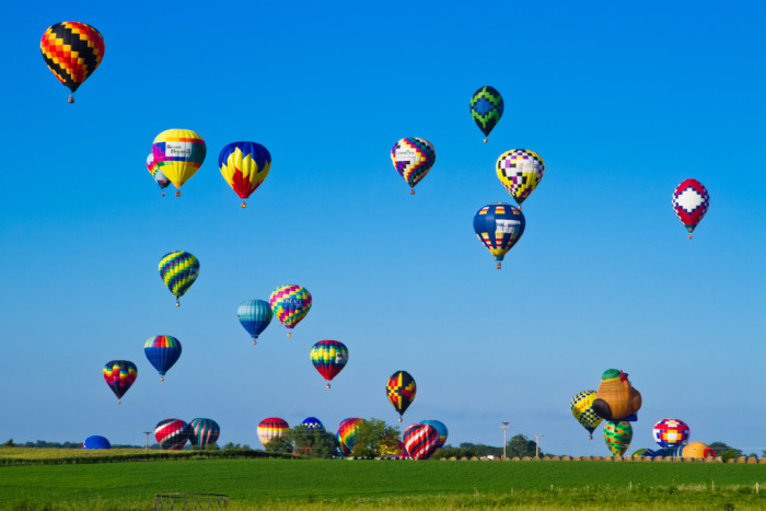1. On January 9, 1793, the first balloon flight in America was made by Jean-Pierre Blanchard.