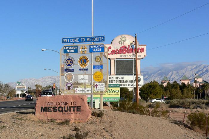 4. Mesquite, NV - Population 15,391