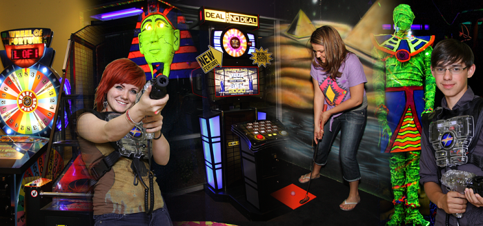 7. Play a round of indoor mini golf or laser tag.