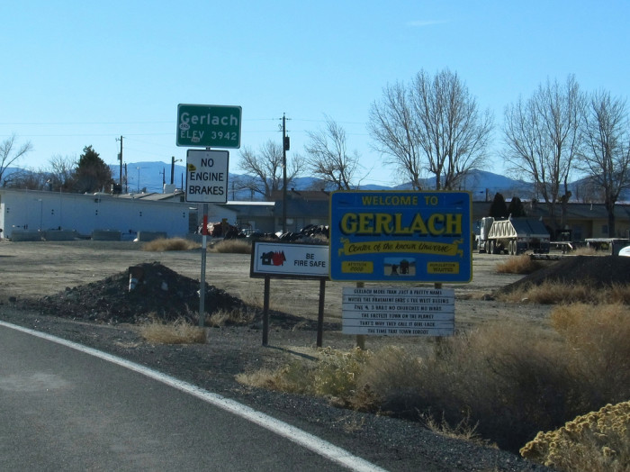 10. Gerlach, NV (Population 206)