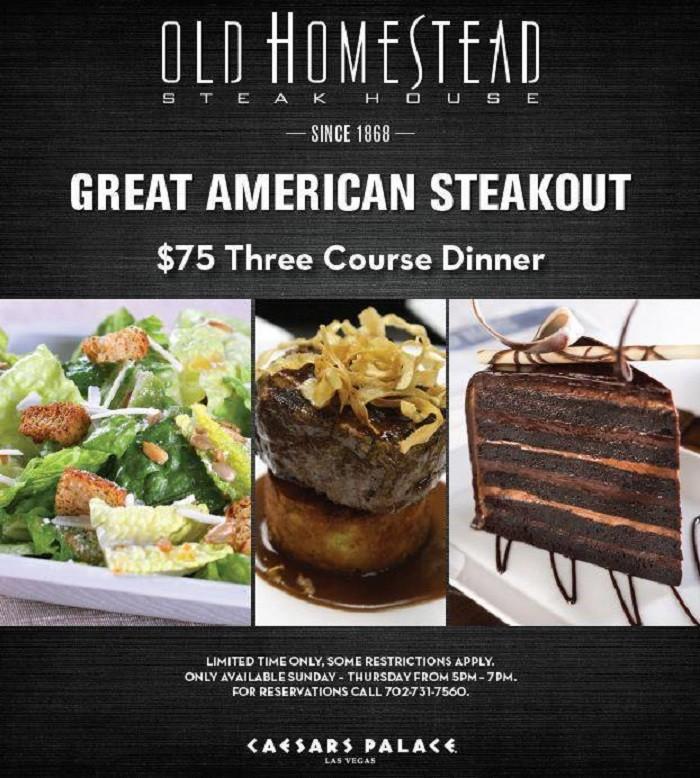 8. Old Homestead Steakhouse - Las Vegas, NV