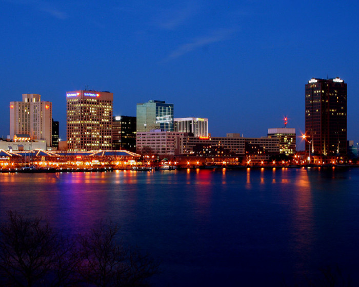 12. Norfolk (63rd nationally among cities with 200,000 + residents)