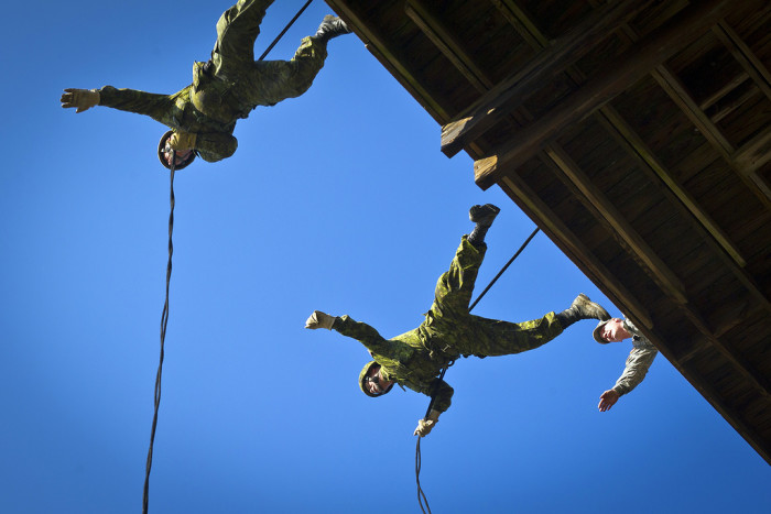 13. Virginia Guard Rappelling Towers at Fort Pickett