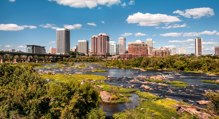 11. Richmond (50th nationally among cities with 200,000 + residents)