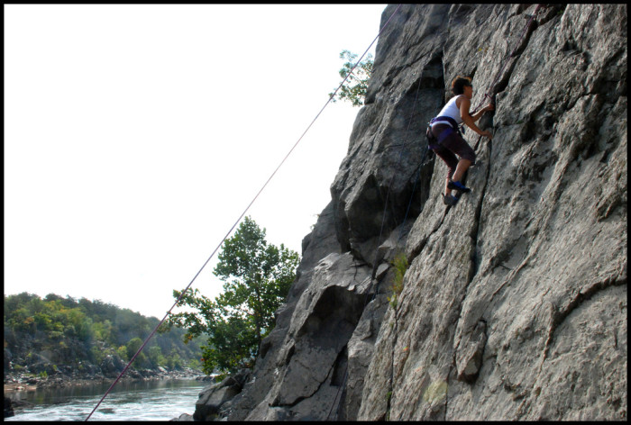9. Rock Climbing at Great Falls