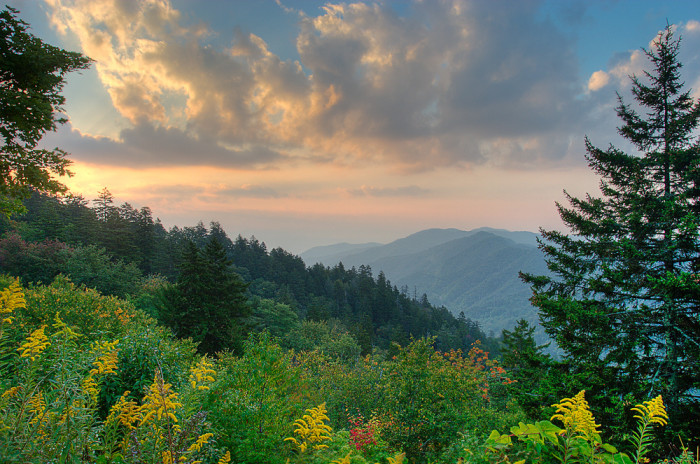 2) This Smoky Mountain sunrise is a stunning bit of God's good earth