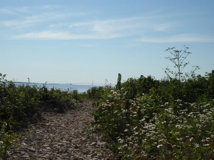 1) St. Helena Island Nature Preserve, St. Ignace